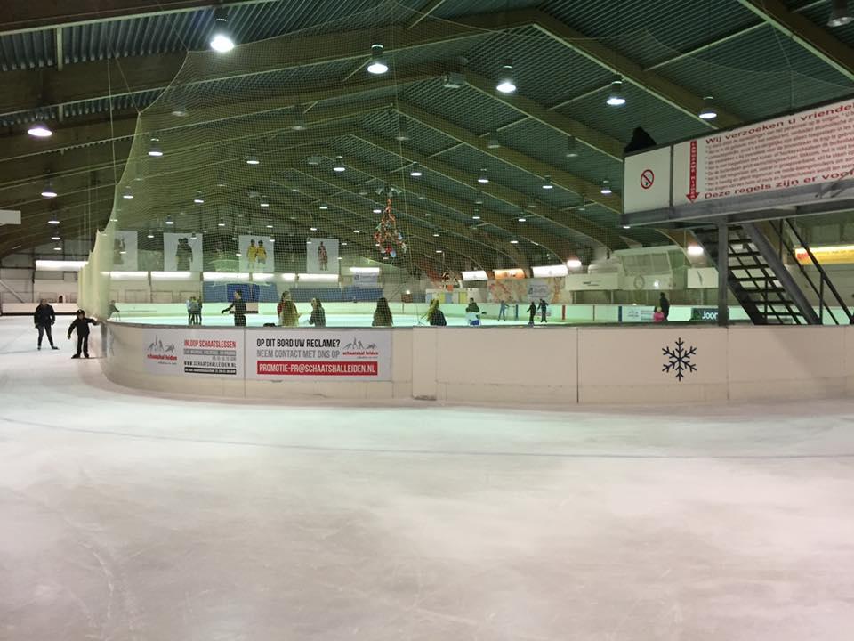 オランダでのアイスホッケー練習